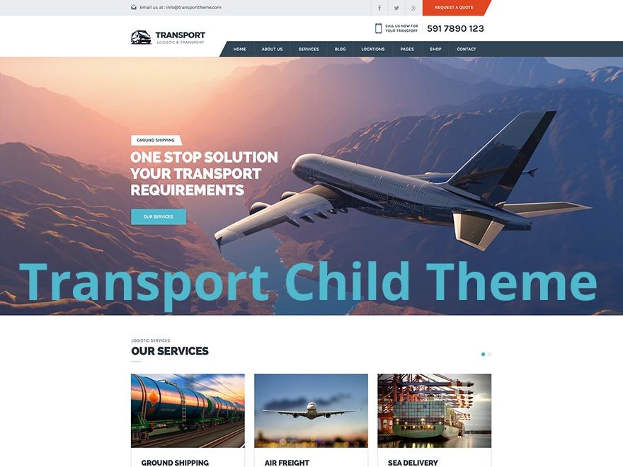 Transport Child WP theme