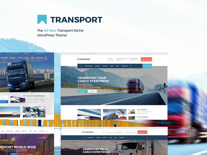 transport WordPress template for business
