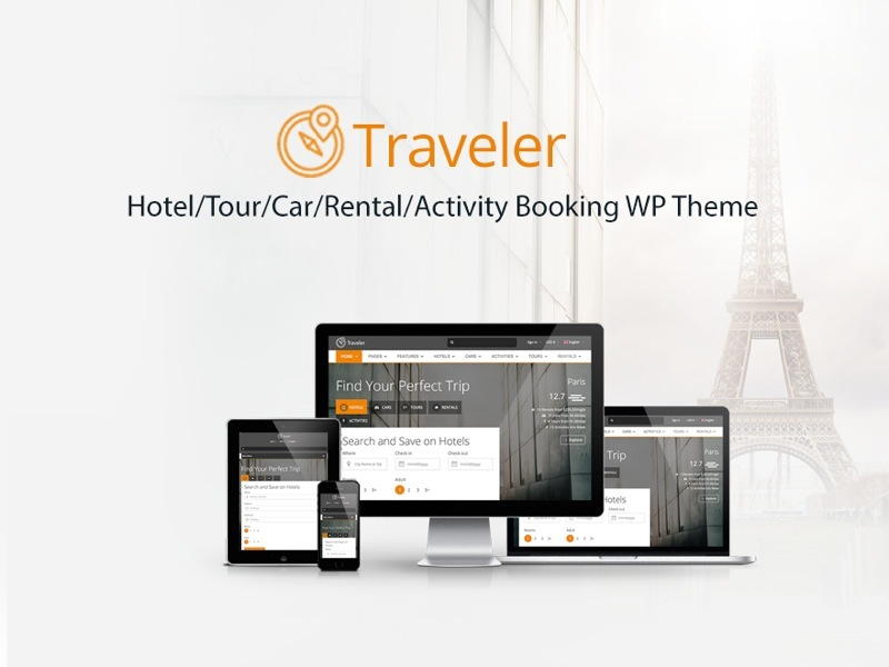 Traveler WordPress travel theme