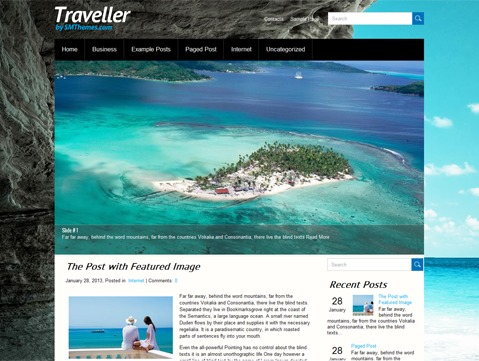 Traveller WordPress travel theme