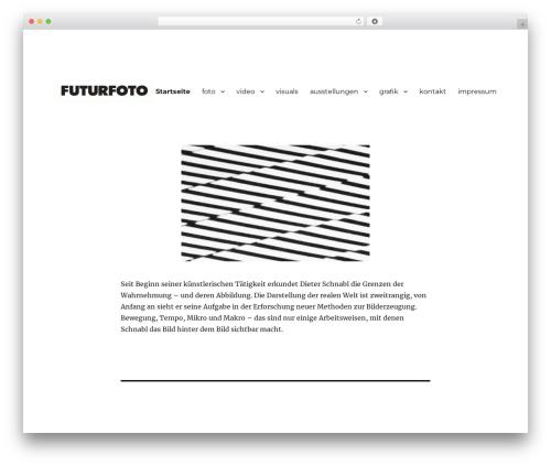 Twenty Sixteen free website theme - futurfoto.de