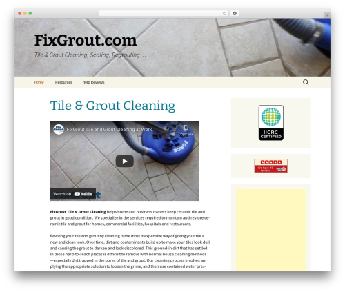 Twenty Thirteen best free WordPress theme - fixgrout.com