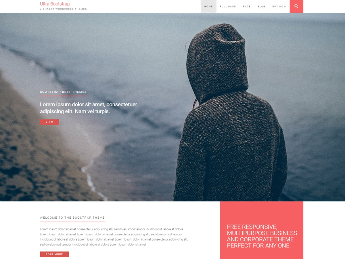 ultrabootstrap WordPress theme free download