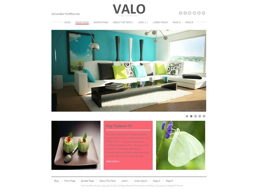 Valo WordPress blog theme