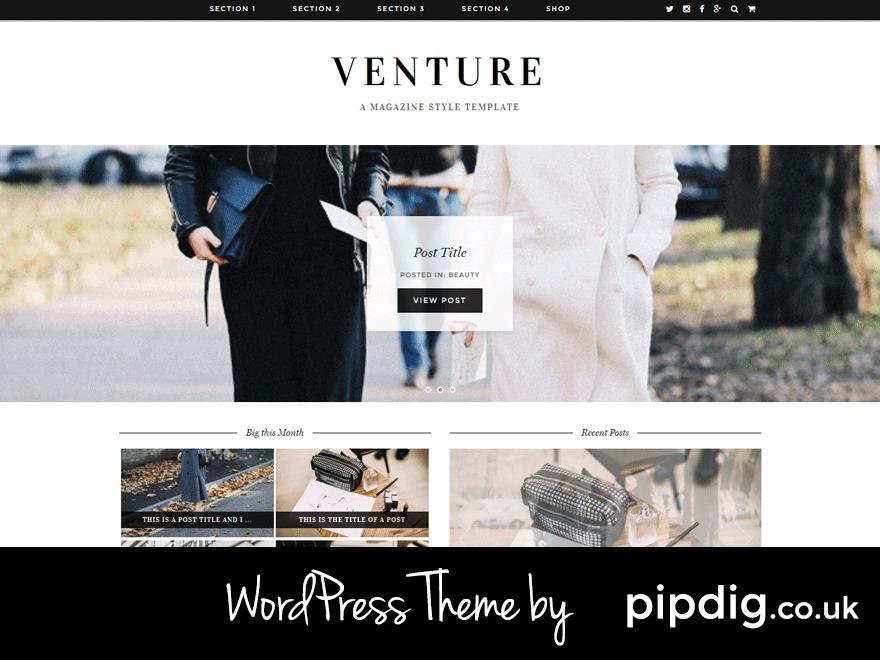 Venture (pipdig) WordPress blog template
