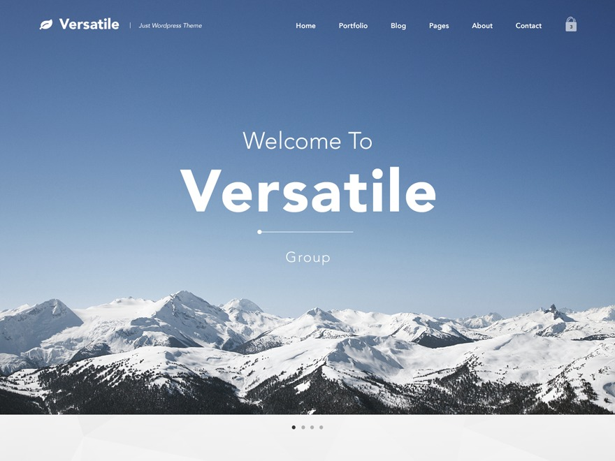 Versatile template WordPress