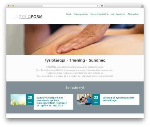 Versatile WordPress theme design - fysioformbornholm.dk