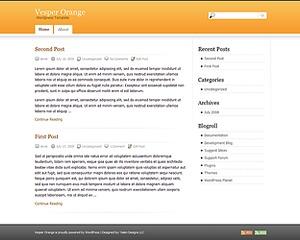 Vesper WordPress theme design