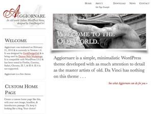 WordPress template Aggiornare