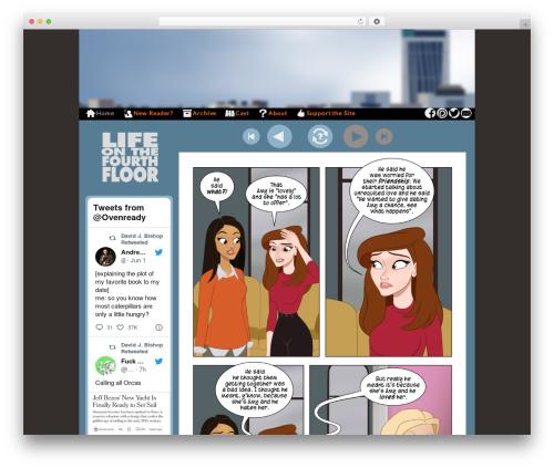 WordPress template ComicPress - fourthfloorcomics.com