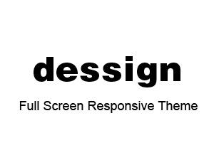WordPress template Full Screen Responsive Theme