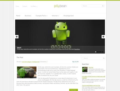 WordPress template JellyBean