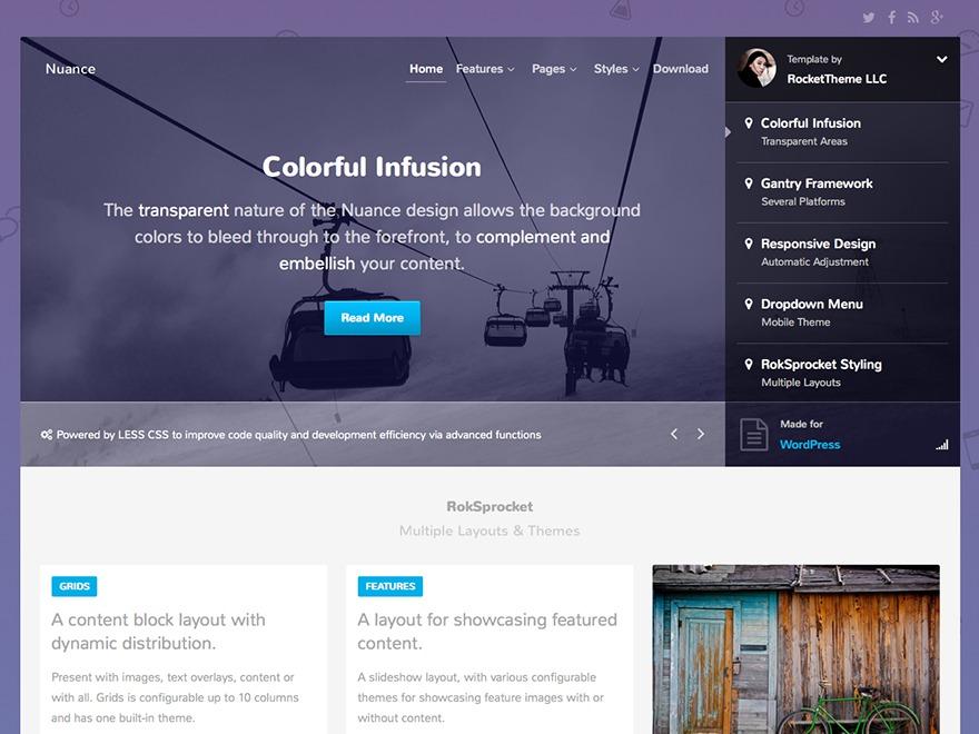 WordPress template Nuance