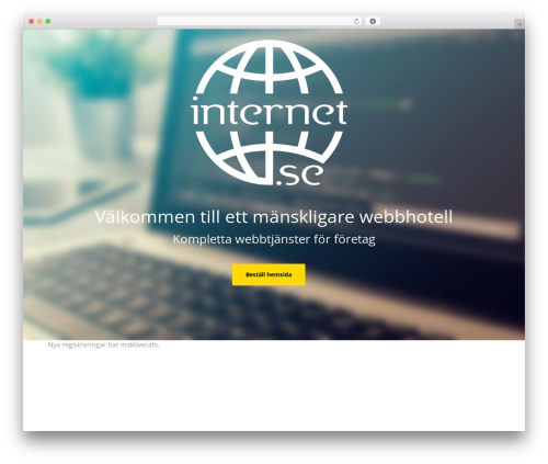 WordPress template Optimizer PRO - wp.internet.se/wp-signup.php?new=tba.net