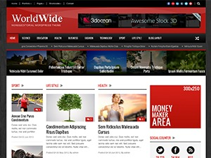 WordPress template World Wide