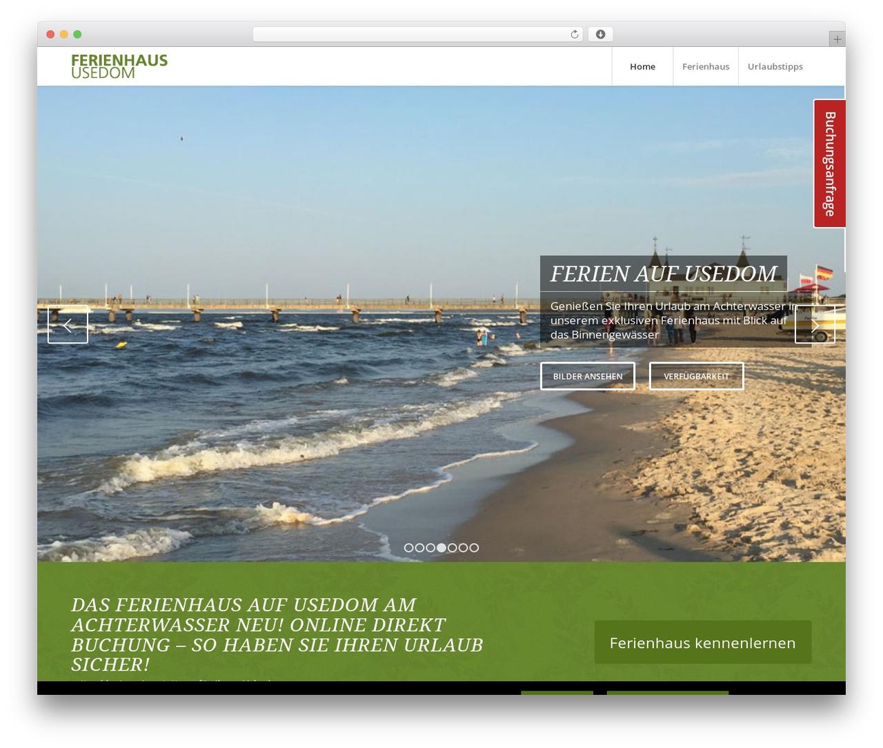 WordPress theme Enfold - ferienhaus-achterwasser-usedom.de