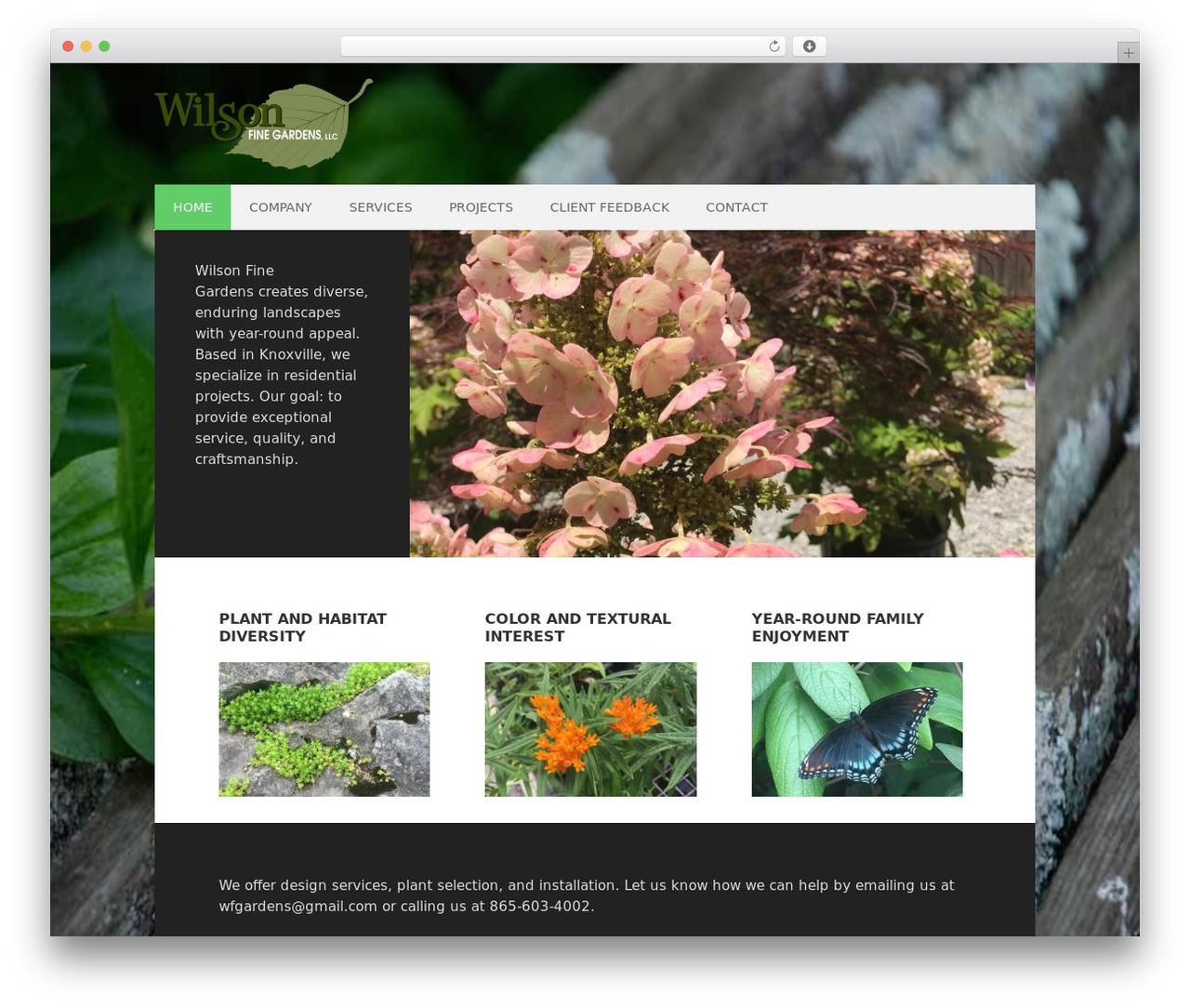 WordPress theme Executive Child Theme - wilsonfinegardens.com