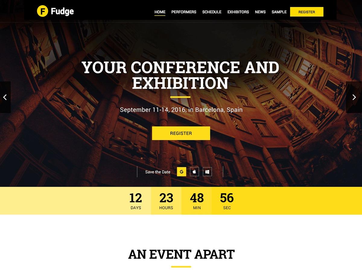WordPress theme Fudge 2