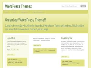 WordPress theme GreenLeaf