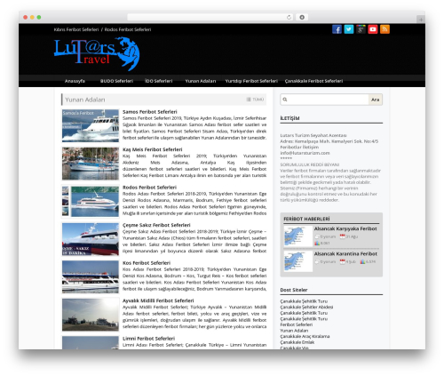 WordPress theme Mercan Wordpress Teması v2 - feribotseferi.com