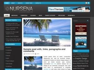 WordPress theme Nursena