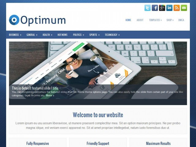 WordPress theme Optimum