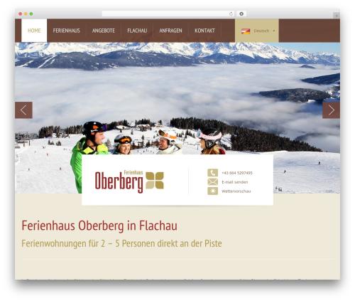 WordPress theme StrapPress - ferienhaus-oberberg.at