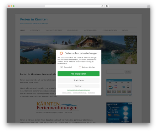WordPress theme Twenty Twelve - ferien-kaernten.at