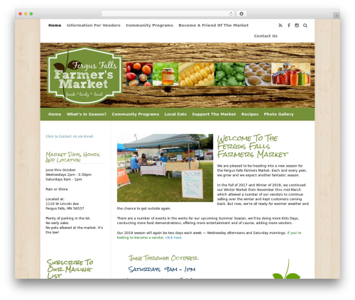 WordPress simple-ads-manager plugin - fergusfallsfarmersmarket.org