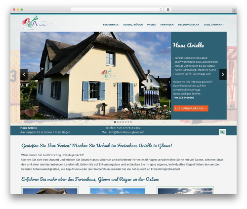 WordPress website template ferienhaus-glowe.net - ferienhaus-glowe.net