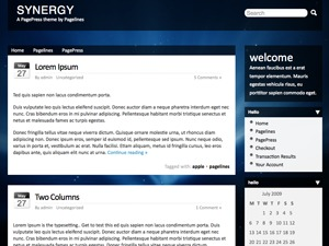 WordPress website template Synergy