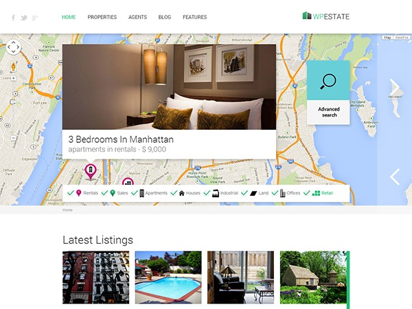 Wp Estate company WordPress theme
