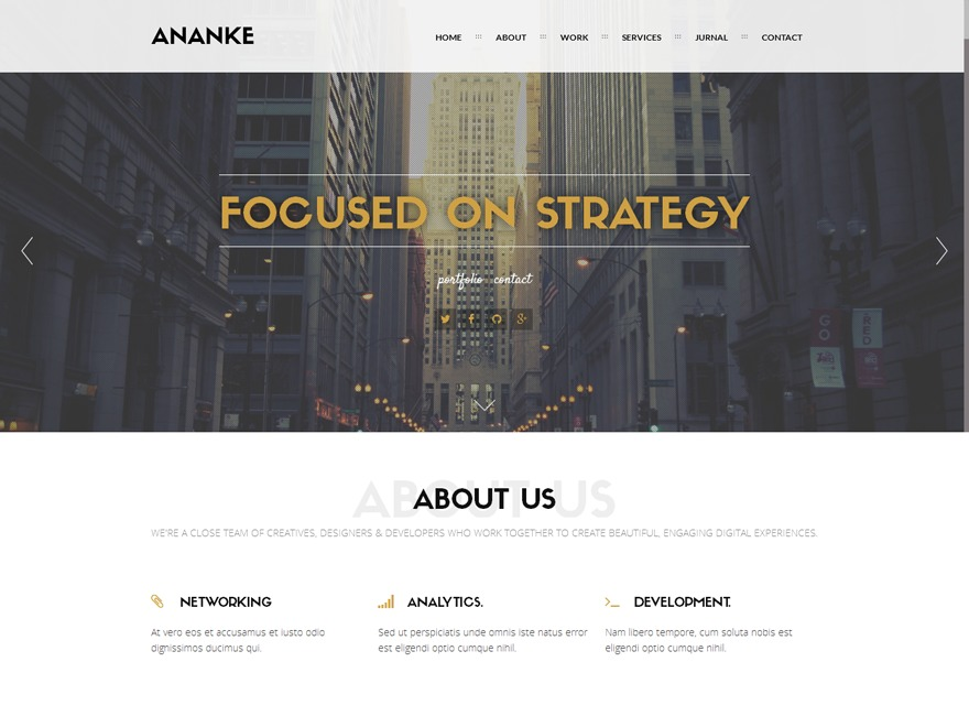 WP template Ananke Child Theme