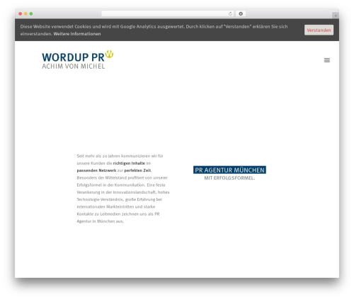 WP template Uncode - wordup.de
