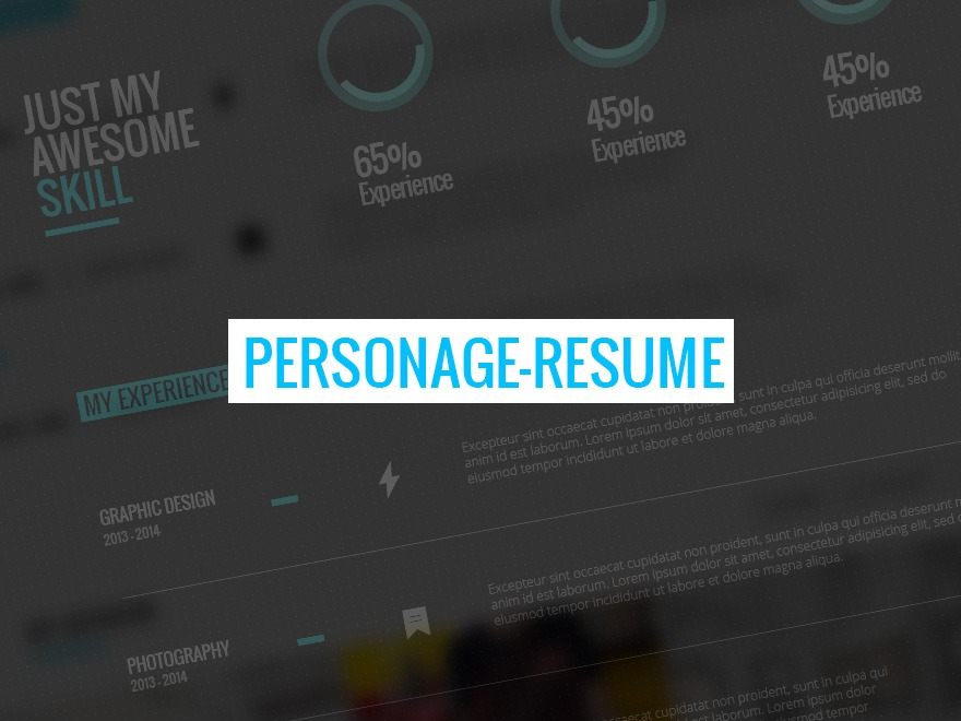 WP theme Personage