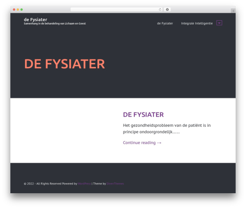 WP theme Rectangulum - fysiater.nl