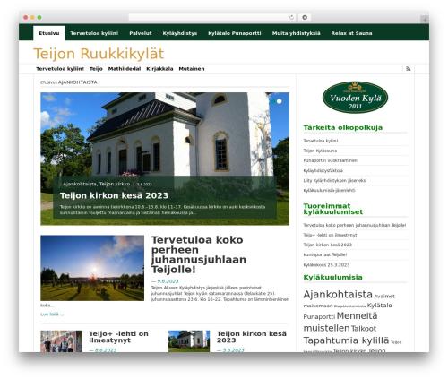 Best WordPress template FastNews Light - teijo.fi