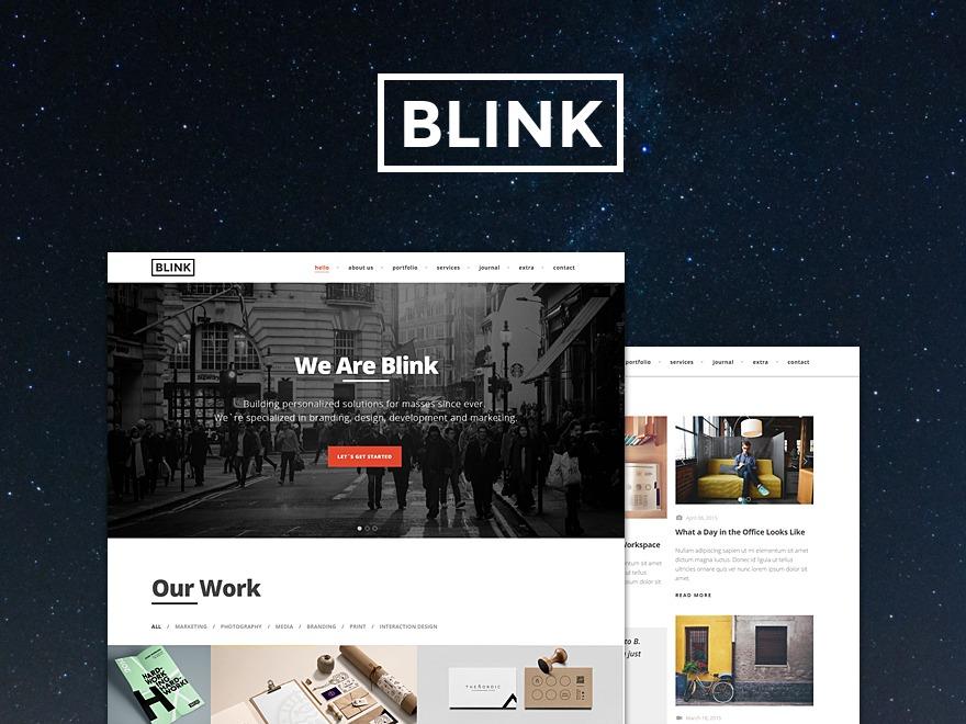 Blink Child best portfolio WordPress theme