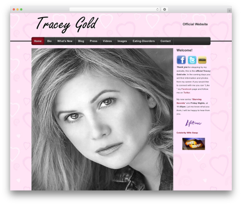 Builder WP theme - thetraceygold.com