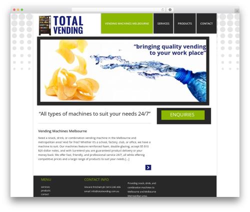Catalyst best WordPress template - totalvending.com.au