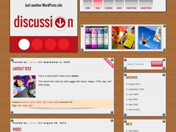 DISCUSSION / TVK WordPress blog template