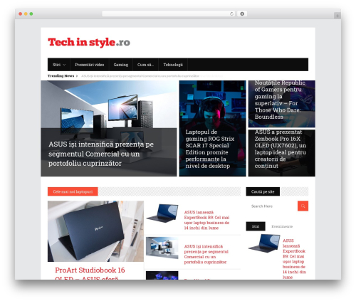 Discussion WP theme - techinstyle.ro