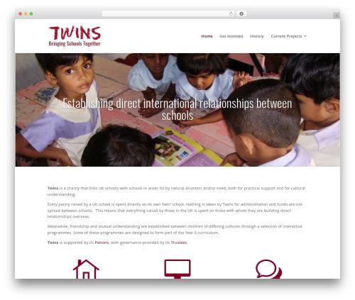 Divi top WordPress theme - twins.org.uk