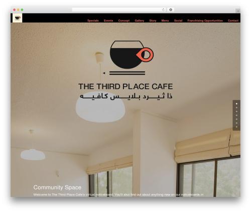 Divi WordPress theme design - thethirdplaceuae.com