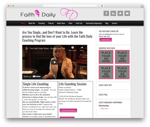 WordPress styles-with-shortcodes plugin - thefaithdailyshow.com