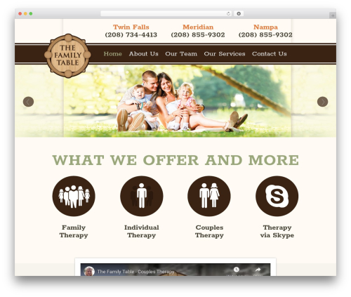 Free WordPress Contact Form 7 plugin - thefamilytable.com