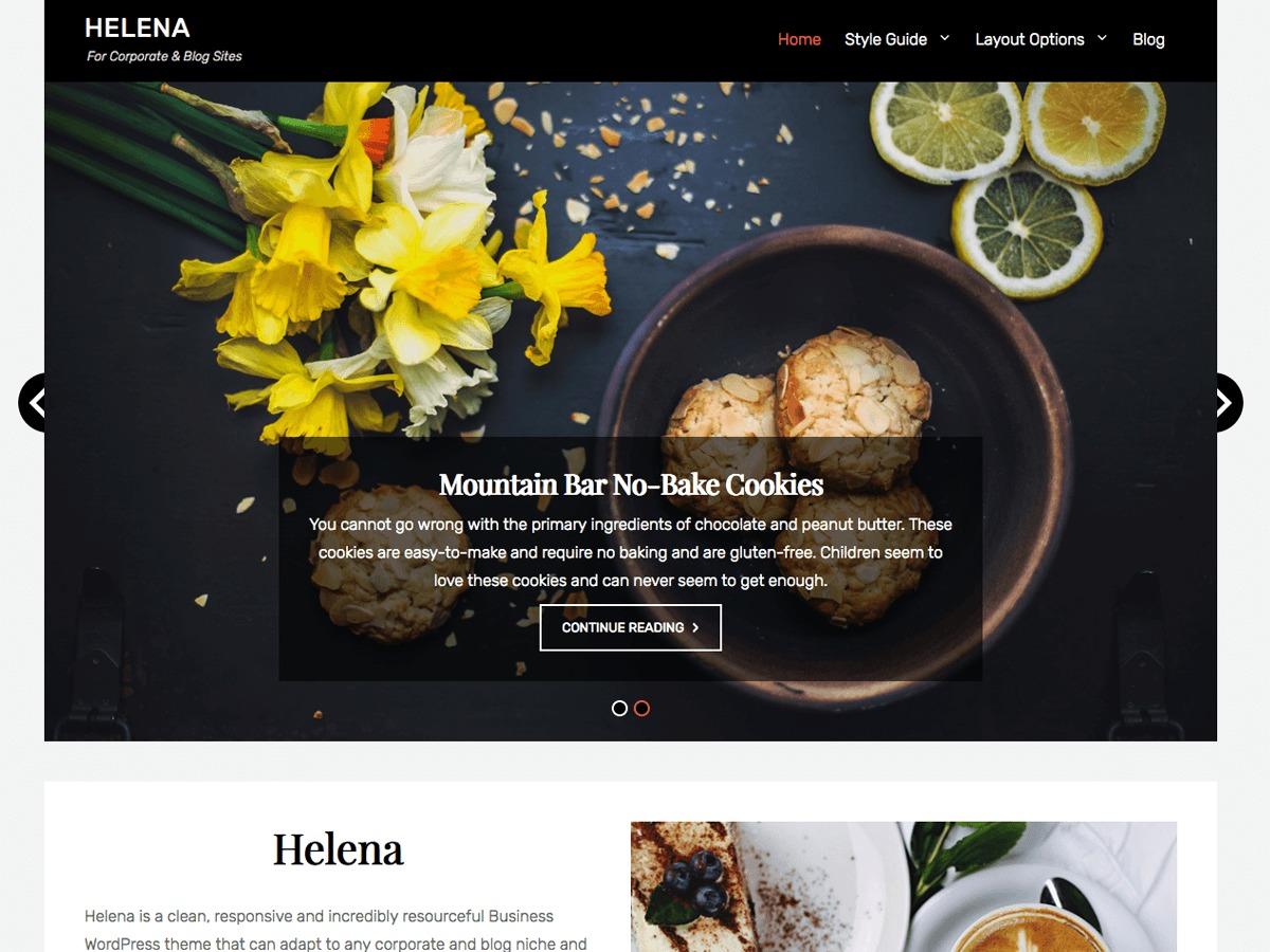 Helena free website theme