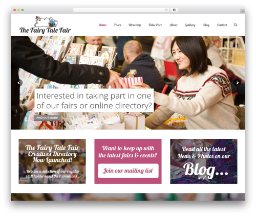 Impreza best wedding WordPress theme - thefairytalefair.co.uk