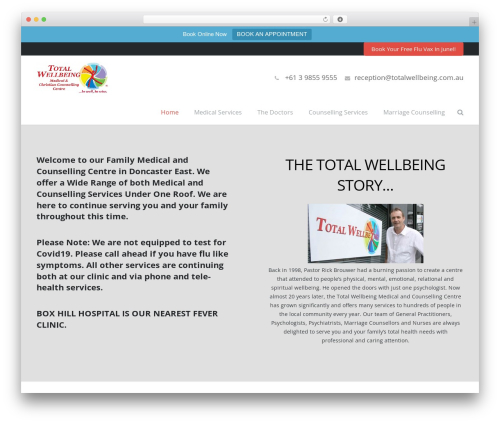 Free WordPress Testimonials Slider plugin - totalwellbeing.com.au
