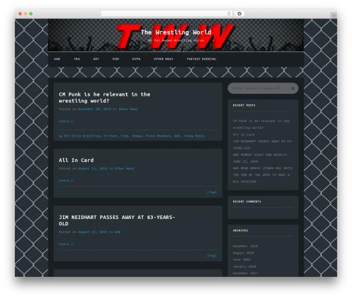 Journalism WordPress page template - thewrestlingworld.co.uk